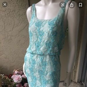 Sequins and lace Alice and Olivia party dress